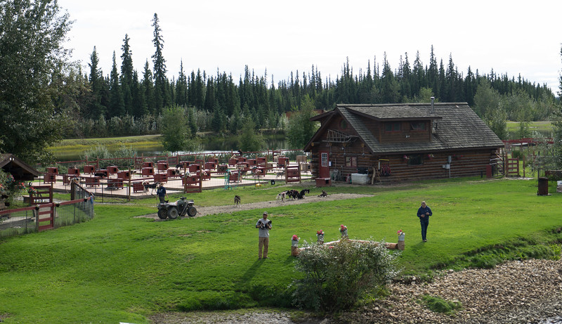 Trail Breaker Kennel, outside Fairbanks on the China River. Started in 1980 by husband and wife team of David Monson (Yukon Quest champion) and Susan Butcher (four-time Iditarod champion).