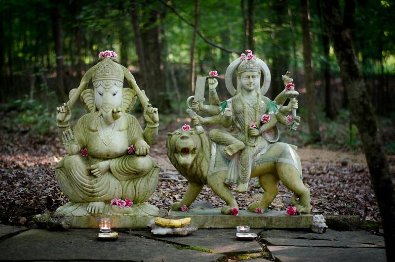 Lord Ganesh and Durga