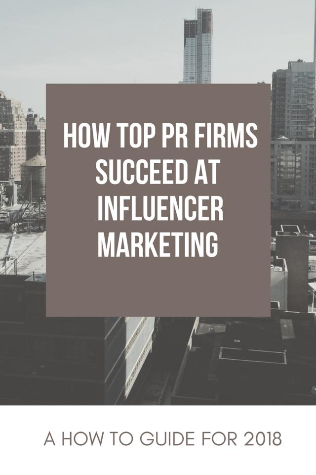 Tips for Top PR Agencies, Influencer Campaigns, Social Media