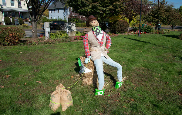 10/14/19 Wesley Bunnell | StaffrrThe Berlin Parks and Recreation Department is hosting the 15th Annual Scarecrow Festival now through the end of the month with scarecrows on display on Farmington Ave. A scarecrow entry by TD Bank on display.