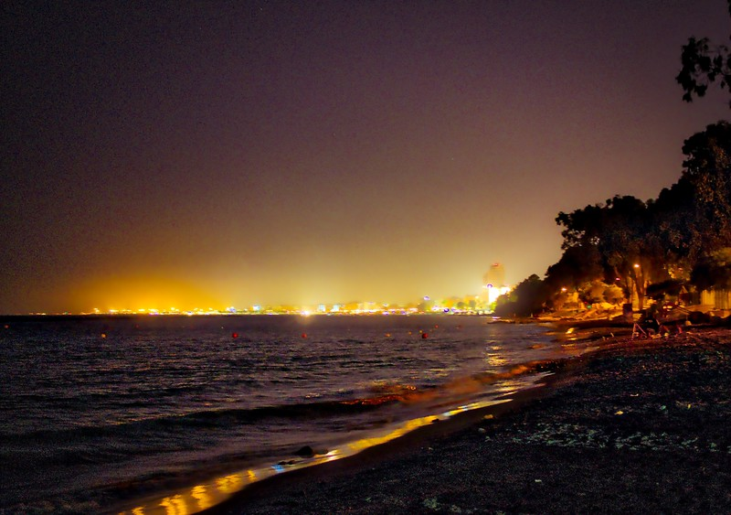 Limassol at night