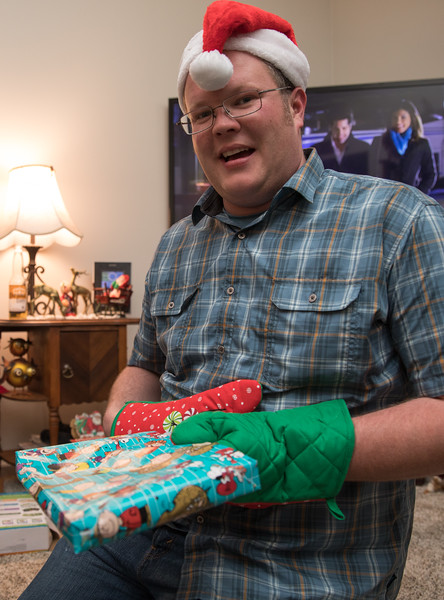 Jake opening present with mittens.jpg
