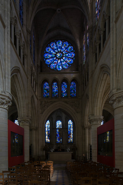 Gisors, Saint-Gervais-Saint-Protais Church Choir and Rose Window