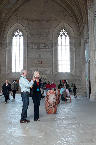 George Kelley and Susan Williams at Palais des Papes, Avignon