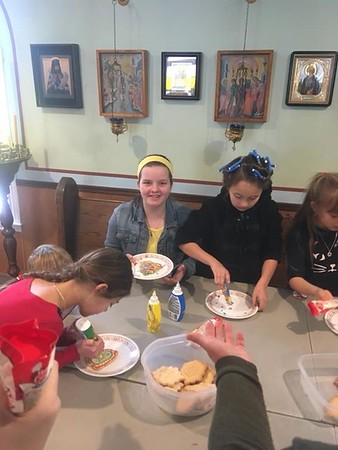 Kids Helping With Prep For Bake Sale