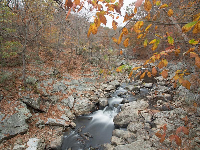 "Looking upstream of the ""big"" falls  Difficult Run Fairfax County, VA October 2012"