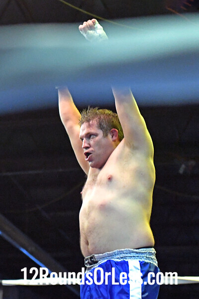 Bout #8: Ammy Boxing, Jeff Mycek, Red Wrist Wraps, 196 Lbs -vs- Jarrell Sanders, Blue Wrist Wraps, 186 Lbs