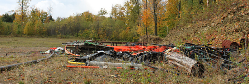 Left overs from the drilling operation completed a couple of years ago. Can you imagine this happening in one of our other National Forests?
