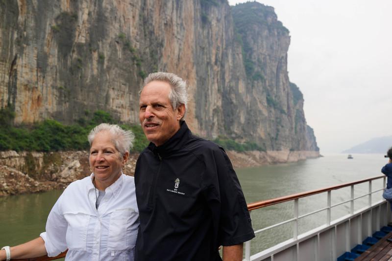 Gail and Howard Venger on Yangtze River