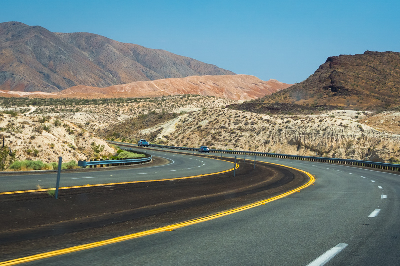 July  6 - Colors and curves of Highway 395, near Mojave, CA.jpg