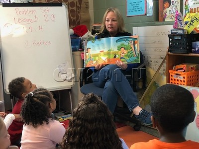 Mrs. Gasbarro Reads to Monee Students