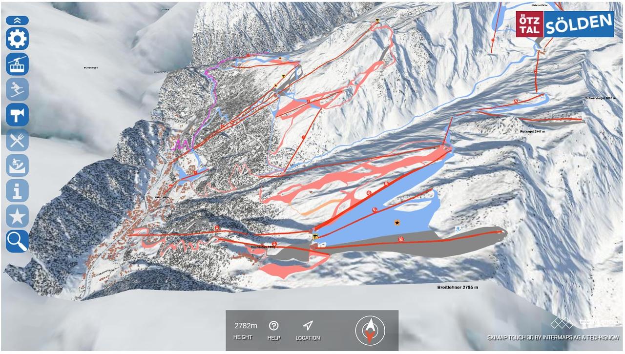 Mapa de pistas Tech4snow