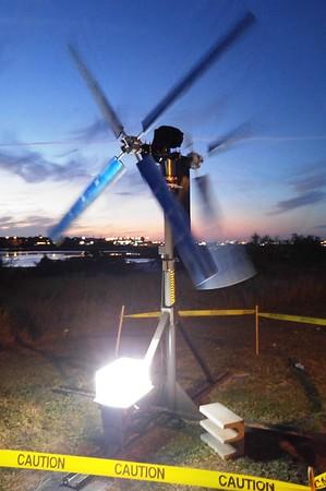 Student Wind Turbine Testing
