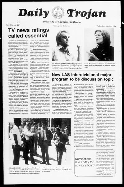 Daily Trojan, Vol. 66, No. 84, March 06, 1974