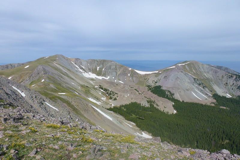 Venado Peak left, Virsylvia Peak right