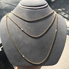 Vintage Yellow Gold Long Chain with Pearl Accents 9