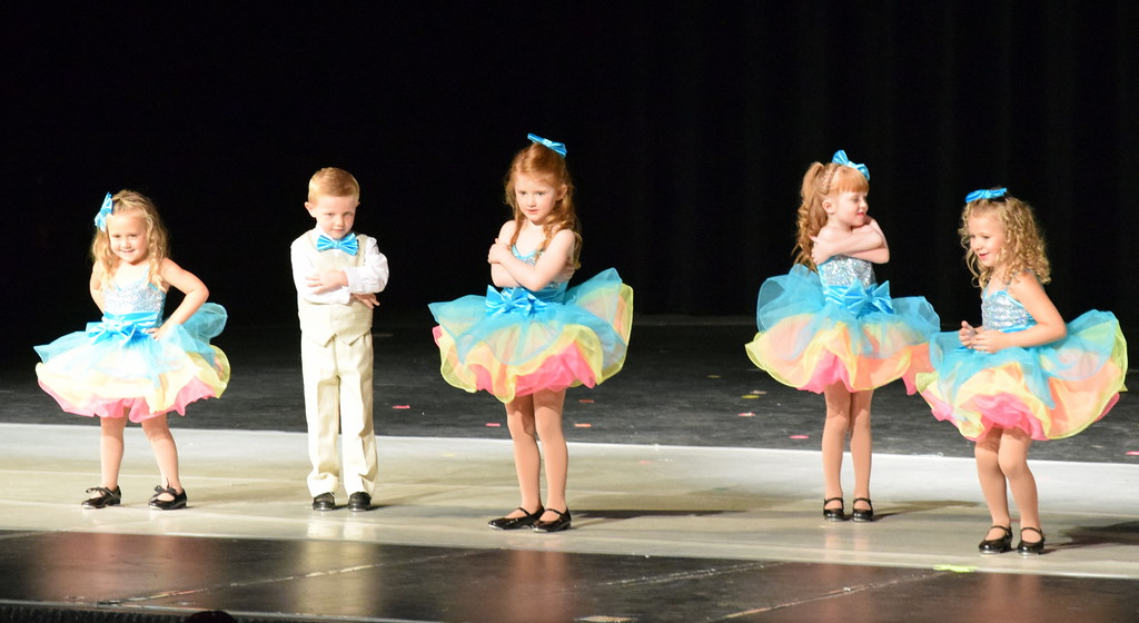 ". Arabelle Murphy, Emery Wolf, Liliana Brekel, Diem Schuppe, Olivia Rinaldo, Mason Hulbert, Addy Duvall-Young, Emi Johnson, McKinley Nolan and Aliyah Ochoa dance to ""Chewy, Chewy\"" at Melissa\'s School of Dance and Gymnastics\' \""Dance in Motion\"" recital Wednesday, June 13, 2018."
