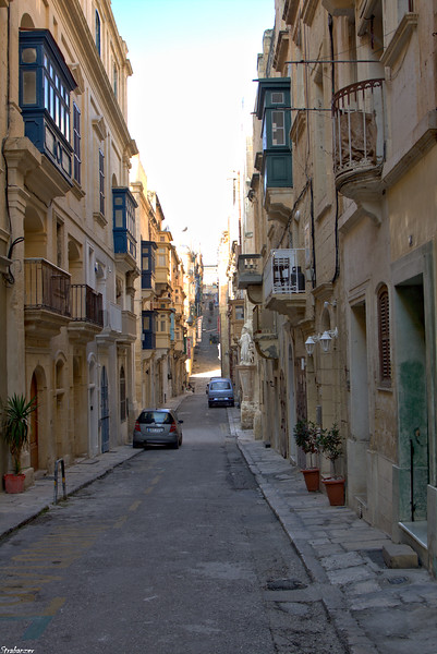 Valletta, Malta.   St Ursula Street    Triq Saint Orsla   03/24/2019