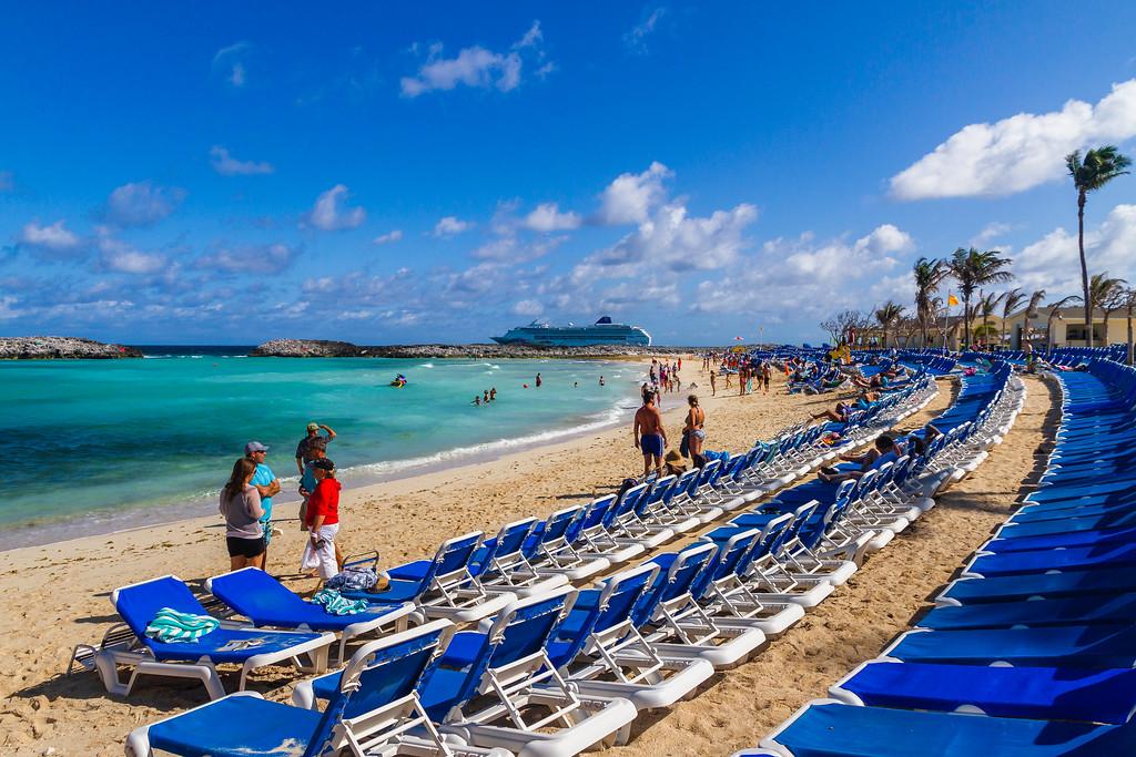 巴哈马大马镫礁(Great Stirrup Cay),海边美景