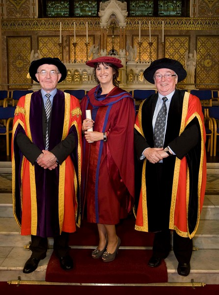 5/1/2012. News. Free to use image. Waterford Institute of Technology (WIT) Graduation. PicturedLeana Reinl, Waterford who was conferred a Doctor of Philosophy, pictured is Mr. Tony McFeely, Acting President WIT, and Dr Donie Ormonde, WIT Chairman. Photo Patrick Browne