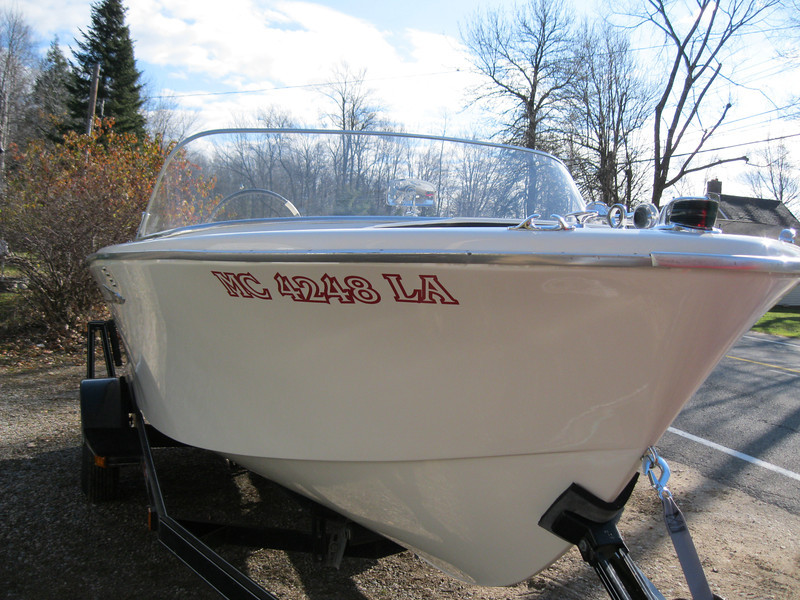 Finished project being delivered. Starboard front.