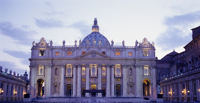 St. Peter's Basilica in Vatican, Rome (Italy)