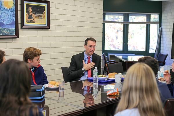 Mr. Williamson Meets with WMS Grade 8