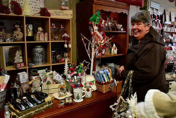 11/24/2018 Mike Orazzi | Staff Kathy Ordonez of New Britain while shopping at Good Cause Gifts on Main Street in Berlin on Saturday.
