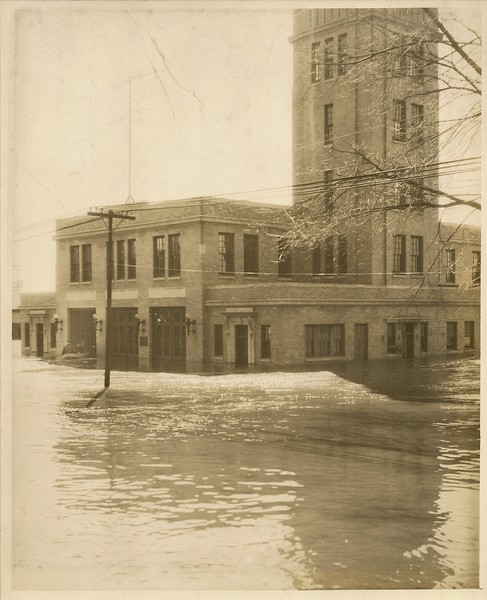 Water St Station during flood of 36.JPG