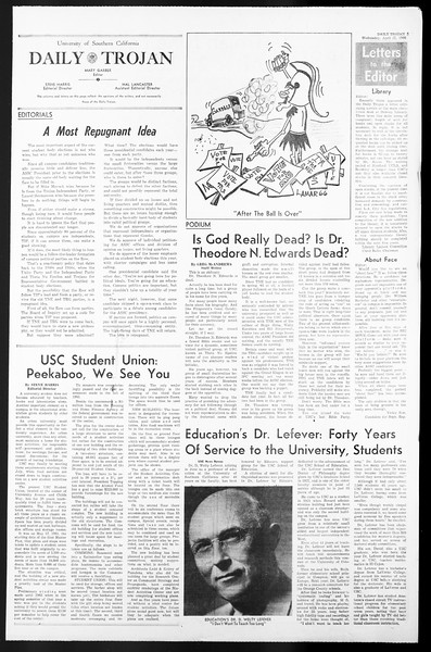 Daily Trojan, Vol. 57, No. 110, April 27, 1966