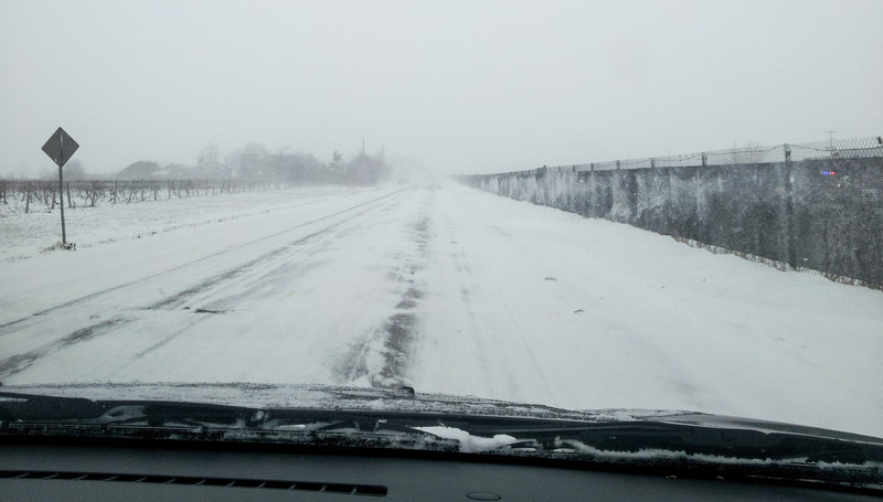 Some of the driving conditions we face and it got worse from there.