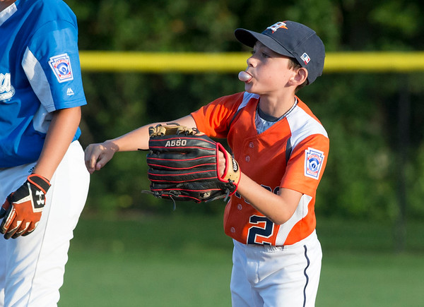 08/26/19 Wesley Bunnell | Staff The McCabe-Waters Astros defeated the Forrestville Dodgers 3-0 at Breen Field on Monday night in the city series to force a winner takes all on Wednesday. Mike Demers (2).