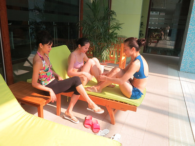 Chilling by the pool - October 11, 2012