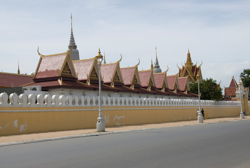 Beautiful architectural roof design at the Royal Palace in Phnom Penh