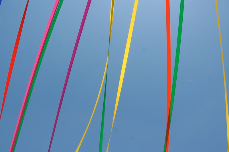 A rainbow fence