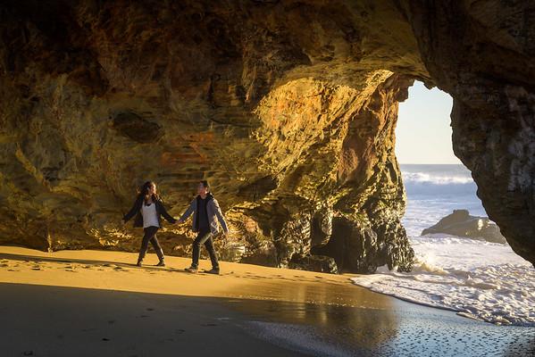 Ngan and Justin (Wedding Proposal Photography) at Panther Beach, Santa Cruz, California