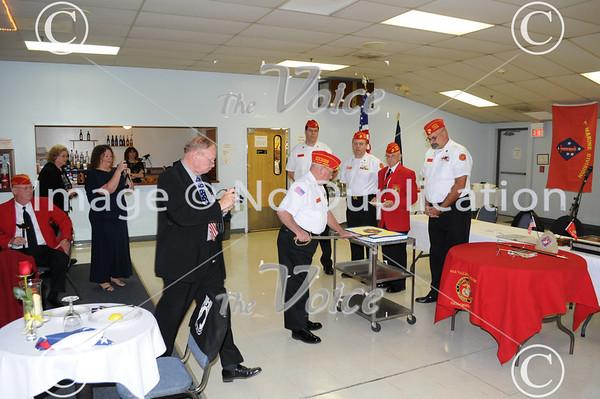 Aurora, IL Fox Valley Marines celebrate Marine Corps. 236 B-day at Amvets 11-10-11