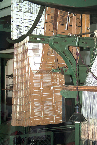 punch cards used for automatic machine weaving of silk fabric