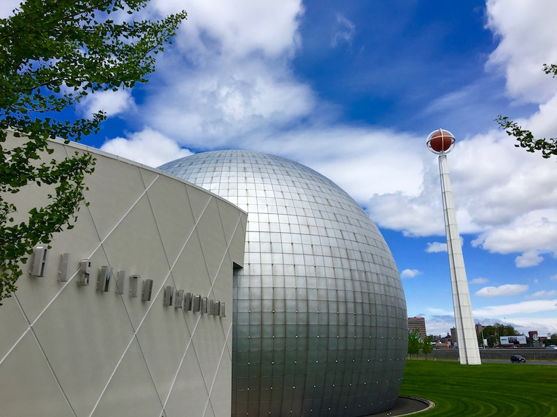 What to do in the Pioneer Valley of Massachusetts: the Naismith Memorial Basketball Hall of Fame in Springfield, Massachusetts