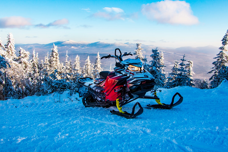 Snowmobiling in Rangeley Maine