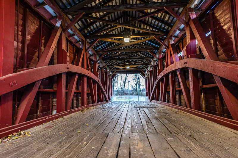Crossing Shearer's Mill Covered Bridge