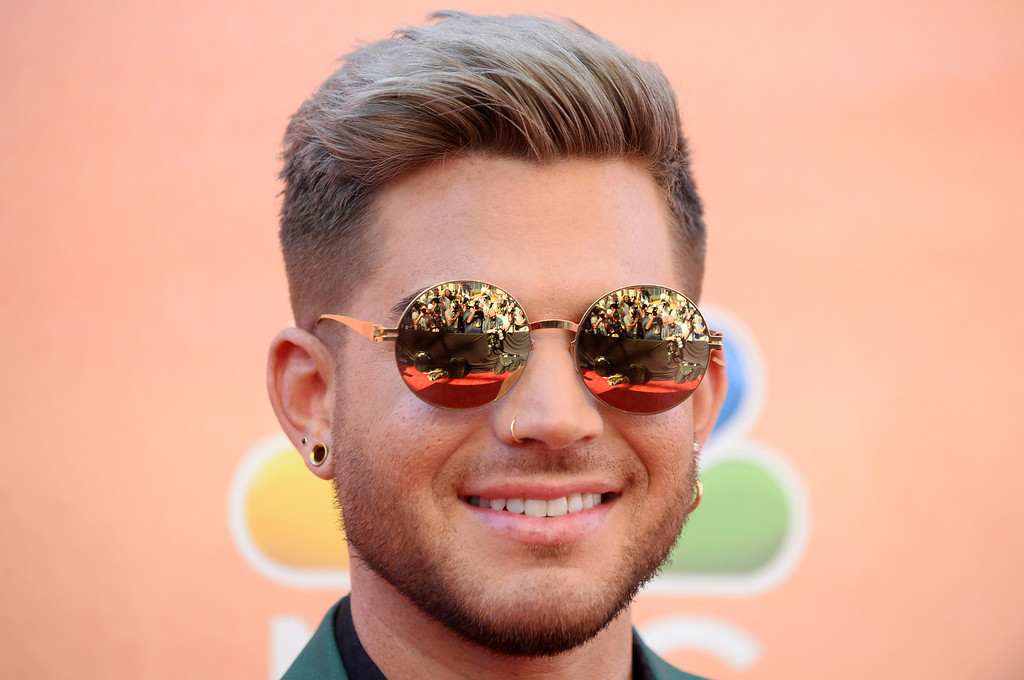 . Adam Lambert arrives at the iHeartRadio Music Awards at the Shrine Auditorium on Thursday, May 1, 2014, in Los Angeles. (Photo by Jordan Strauss/Invision/AP)