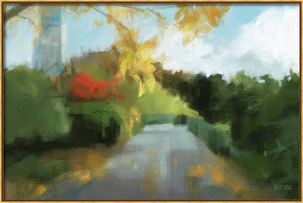 Conservatory Garden Autumn Central Park Painting by Beverly Brown