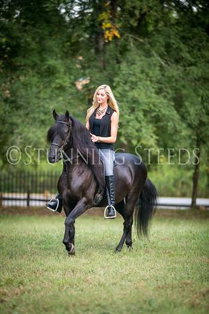 Bucephalus under saddle