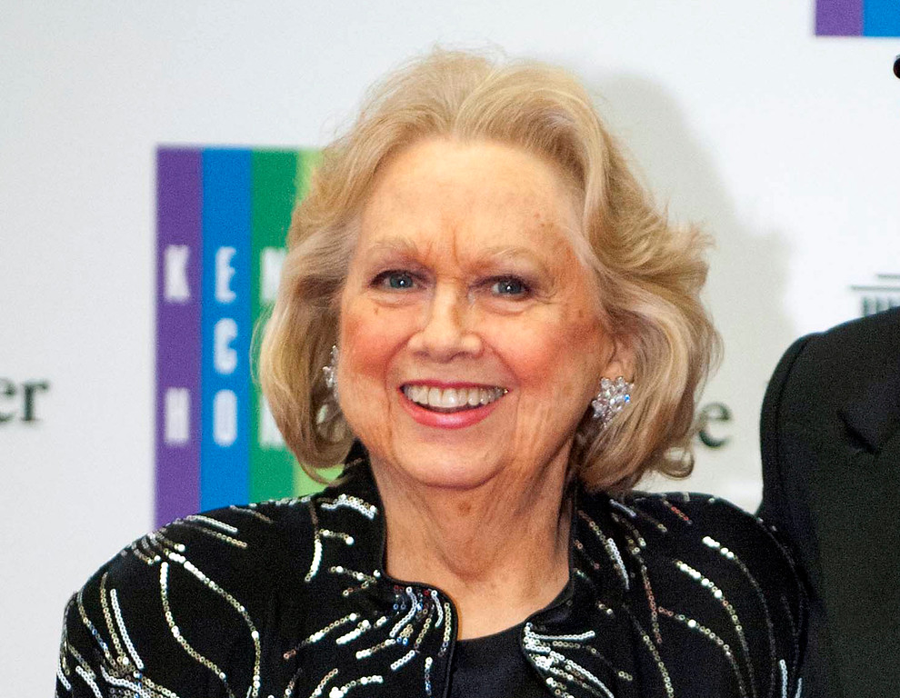 . FILE - In this Dec. 7, 2013 file photo, Barbara Cook arrives at the State Department for the Kennedy Center Honors gala dinner in Washington. Cook, whose shimmering soprano made her one of Broadway\'s leading ingenues and later a major cabaret and concert interpreter of popular American song, died Aug. 8. She was 89. (AP Photo/Kevin Wolf, File)