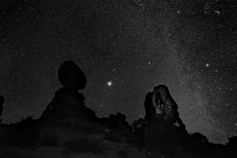 Winter Milky Way over Balanced Rock