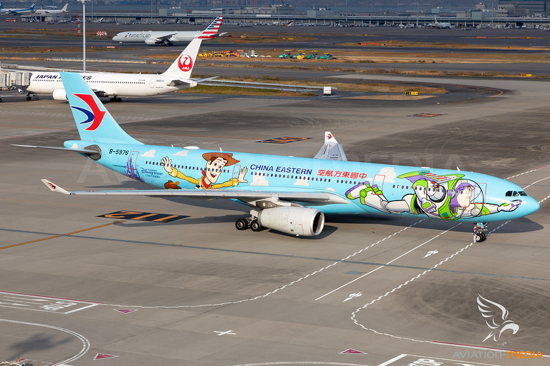 "China Eastern Airlines | Airbus A330-343 | B-5976 | ""Disneyland-Pixar Toy Story"" special scheme"