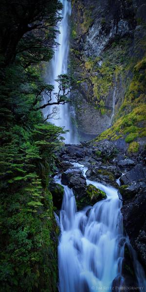 Devil's Punchbowl Falls, Arthur's Pass, Canterbury, New Zealand