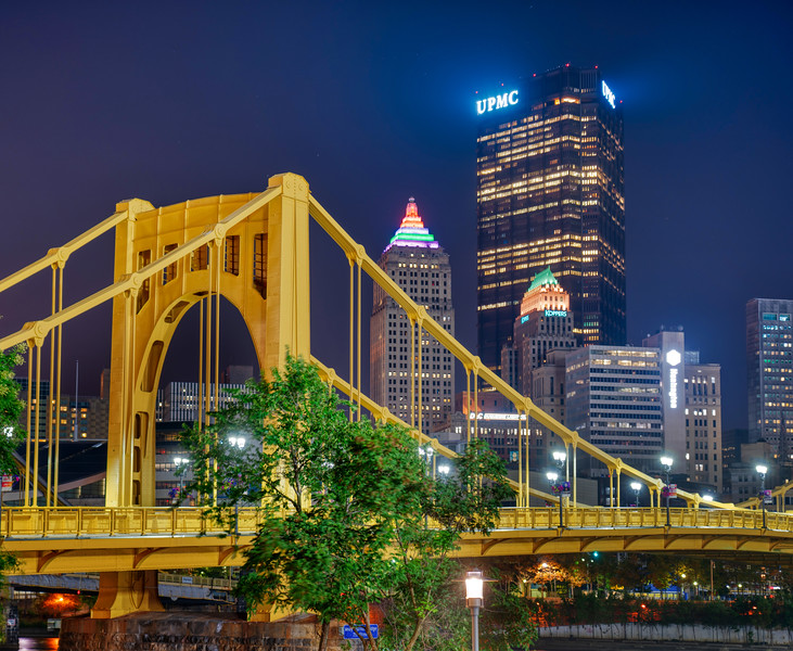 Yellow Bridges in Pittsburgh