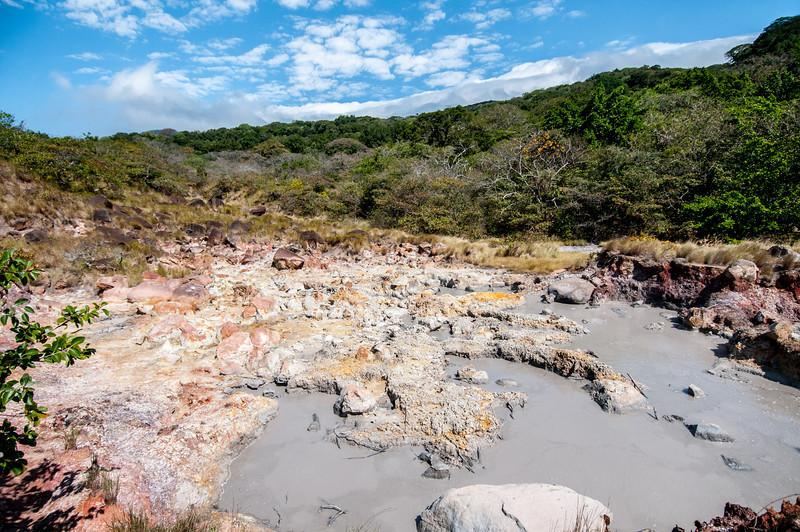 Mudfield in Rincon Volcano National Park, Costa Rica